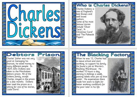 Free Printable Charles Dickens Biography English Display