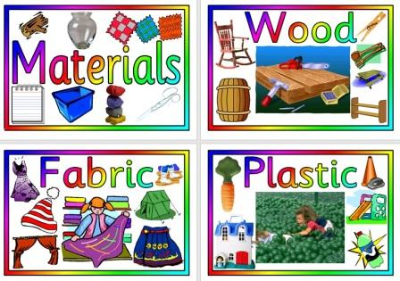 Free printable Different Materials Posters