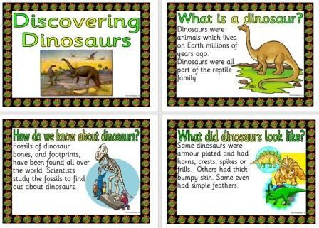 Free Printable Dinosaurs Information Posters