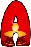 Diwali, Oil Lamp, Hindu Festival background printable letters for classroom display.