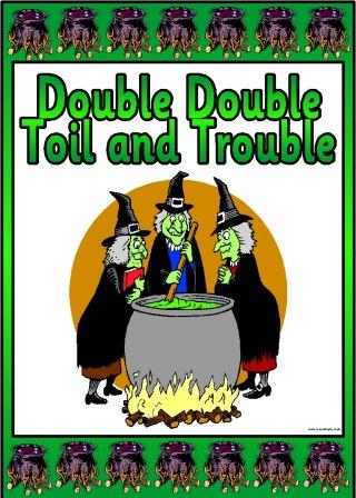 Double Double Toil and Trouble Printable Display Set