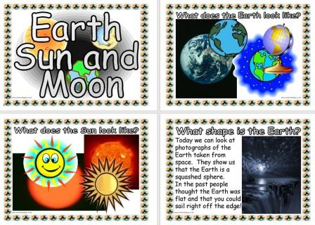 Free Printable Earth Sun and Moon Science Classroom Posters