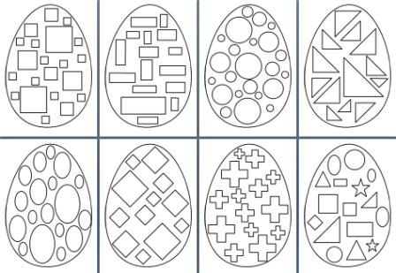 Easter Egg Shapes Worksheets