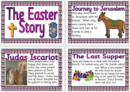 Free Printable Easter Story Display Posters