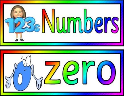 Free printable Maths Display.  Numbers in words and digits posters
