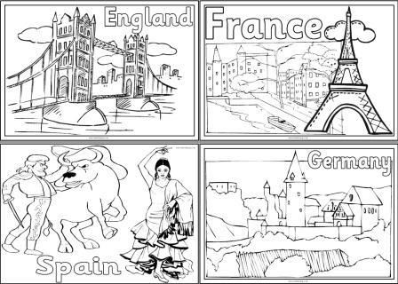 Free printable Countries of Europe Colouring Pages