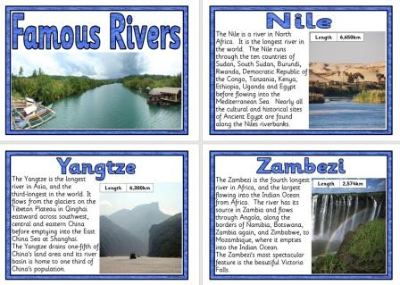 Famous Rivers of the World Poster Set