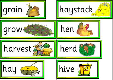 Free Printable On the Farm Vocabulary