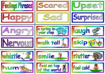 Free Printable Feelings Phrases Resource
