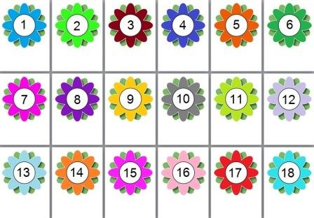 Free printable editable flowers.  Create a flower numberline, flower alphabet and more.