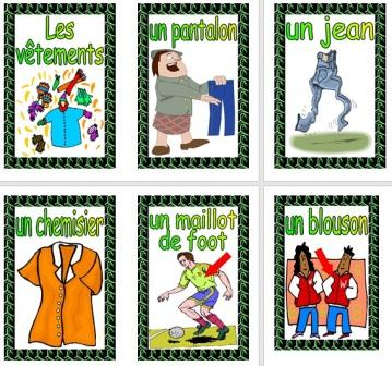 Free Printable French Clothes Posters