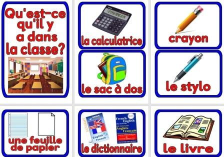 Free Printable French Vocabulary In the Classroom