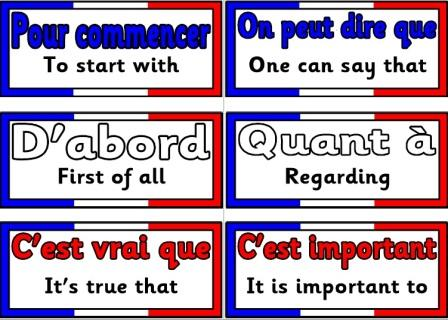Free Printable French Core Vocabulary Cards