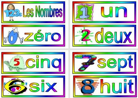 Free printable French Numbers