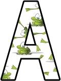Fantastic frogs background free printable instant display lettering sets for classroom bulletin board display, scrapbooking, free digital letters