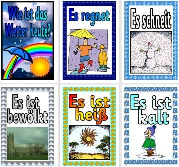 Free German Vocabulary Cards The Weather