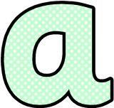 Light Green with white polka dot background free printable instant display lettering sets for classroom display