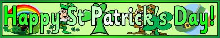 Happy St Patrick's Day Printable Banner