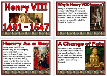Free printable Henry VIII and his wives Poster Set