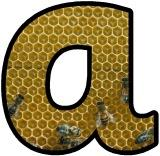 Bee Hive instant display lettering set.