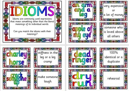 Free printable Idiom Cards teaching resource