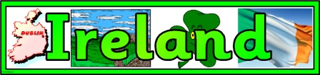 Free printable Ireland banner for classroom bulletin board display