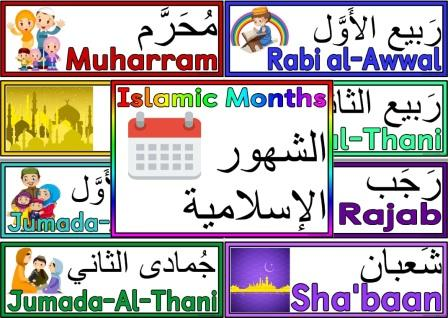 Free Printable Islamic Months Posters for Display