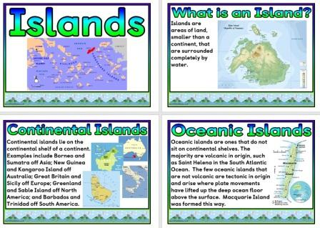 Free Printable Islands and Island Nations Poster Set
