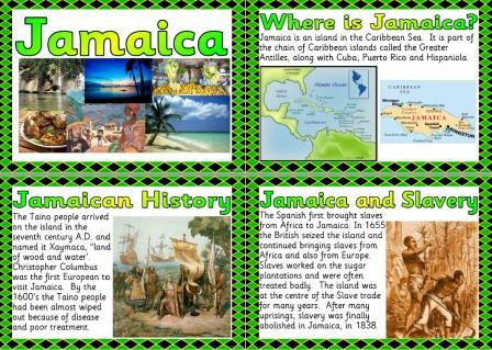 Free Printable Jamaica Information Posters for Geography Teachers