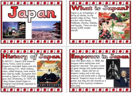 Free Japan Information Posters Geography Teaching Resource