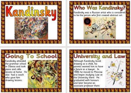 Free Printable Kandinsky Biography Posters for Children