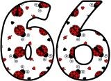 Ladybird printable numbers for display