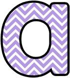 Free printable lavender chevron background instant display digital lettering sets for classroom display.