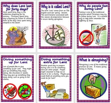 Free Printable Posters about Lent