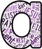 Free printable Lent background instant display lettering sets for classroom bulletin board display.