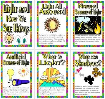 Free printable Light Posters Science Display