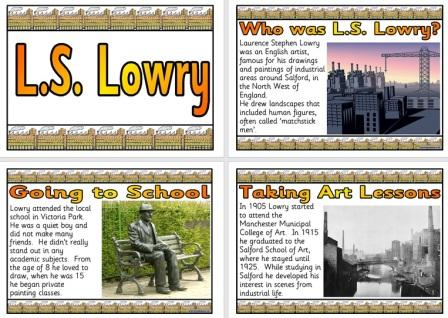Free Printable L.S. Lowry Biography Information Posters