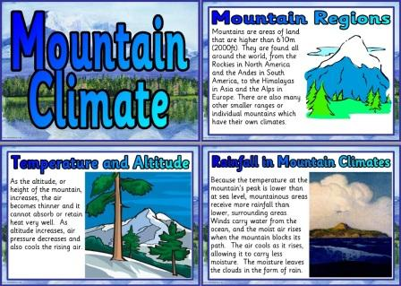 Free Printable Mountain Climate Poster Set for Classroom Display
