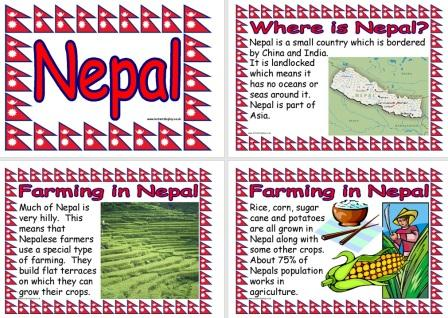 Free printable Nepal Information Geography Posters