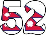 Nepal's flag background instant display lettering.