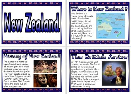 Free Geography Teaching Resource New Zealand Information