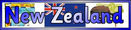 Free printable New Zealand Banner