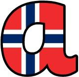 Free printable flag of Norway instant display digital lettering sets for classroom display.