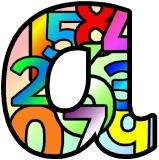 Free printable numbers background instant display lettering and numbers sets for classroom display