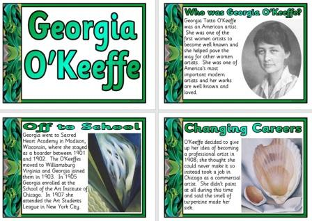 Free Printable Georgia O'Keeffe Biography Posters for Classroom Display