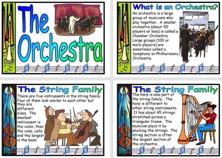 Free Printable Orchestra Information Posters