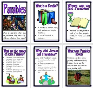Free Printable Christianity Bible Parables Posters