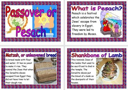 Free Printable Passover or Pesach Information Posters for Display