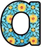 Free printable Peranakan tile pattern digital letters for classroom display