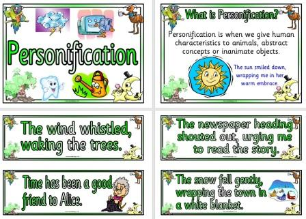 Free Printable Personification Examples Posters